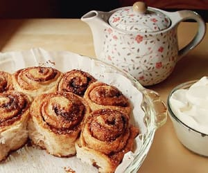 food, tea, and sweet image