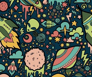 alien, background, and pattern image