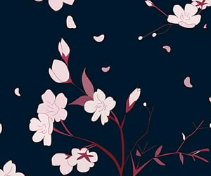 background, cherry blossom, and pattern image