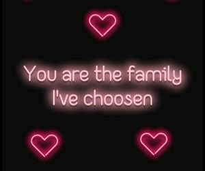 family, neon, and trust image
