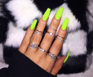 nails, neon, and rings image