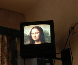 art, tv, and mona lisa image