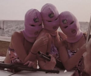 girls, guns, and mask image