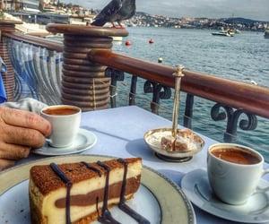 beach, sea, and cafe image
