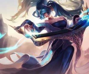 lol, sona, and game-art image