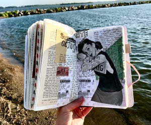 books, Collage, and journaling image