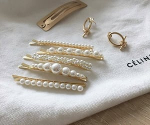 accessories, gold, and pearls image