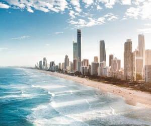 architecture, australia, and beach image