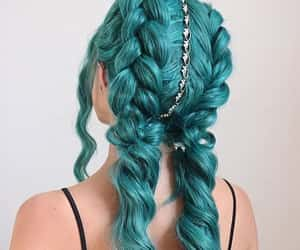 mermaid hair and green-blue hair color image