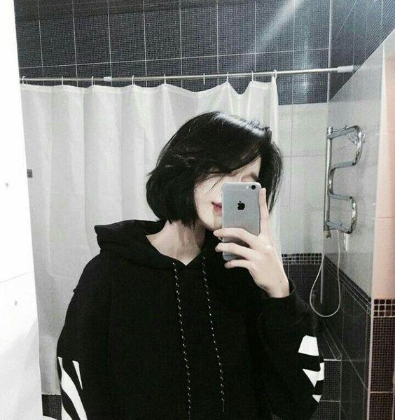 aesthetic, girl, and hoodie image