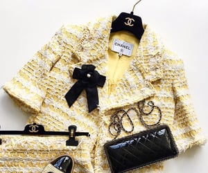 chanel, yellow, and outfit image