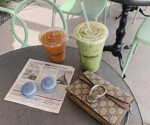 coffee, sweet, and flatlay image