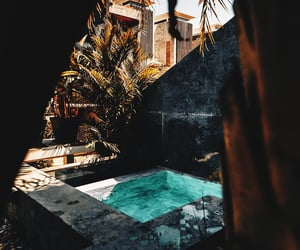 house, nature, and pool image