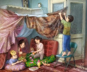 childhood and old days image