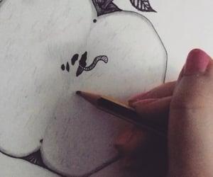 apple, art, and disegni image