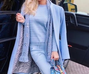 blonde, blue, and Louis Vuitton image