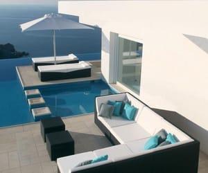 luxury, house, and blue image