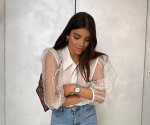 bag, street style, and blouse image