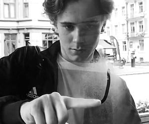 black and white, skam, and isak image