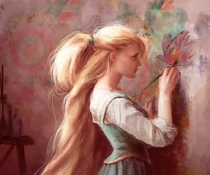 rapunzel, art, and tangled image
