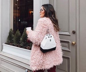 backpack, chanel, and coat image