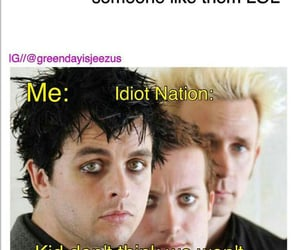 green day, tre cool, and billie armstrong image