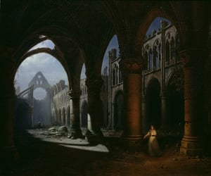 19th century, abbey, and moonlight image