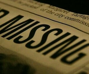 missing, aesthetic, and newspaper image