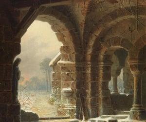 art, church, and dark image