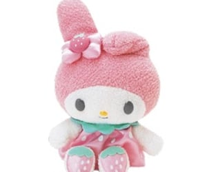 my melody, sanrio, and plush image