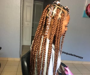 braids, girl, and black girls image