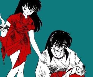 couple, inuyasha, and kagome higurashi image