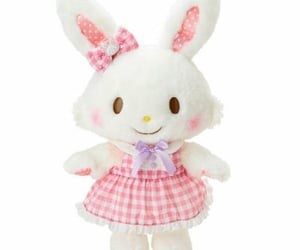 bunny, pink, and plushie image