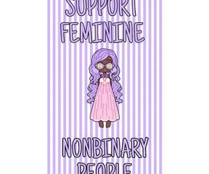feminine, pride, and support image
