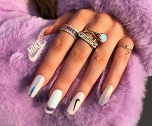 fashion, nails, and nike image