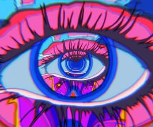 art, eyes, and fluo image