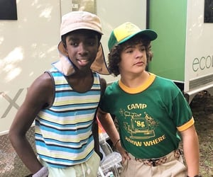 stranger things, gaten matarazzo, and caleb mclaughlin image