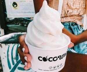 food, ice cream, and white image