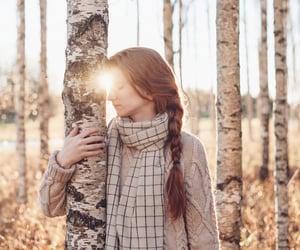 fashion, nature, and sunset image