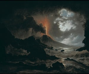 art, 19th century, and eruption image