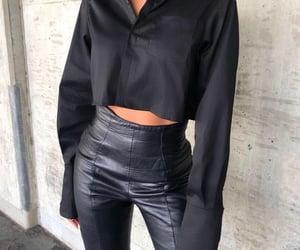 black, fashion, and pants image