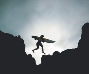 adventure, man, and surfing image