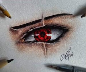 anime, drawing, and eye image