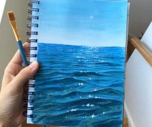 drawing, inspiration, and sea image