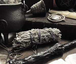 cauldron, crystals, and harry potter image