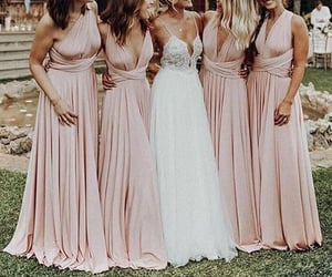 girl, bridesmaid, and couple image