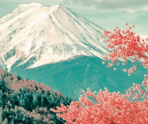japan and landscape image