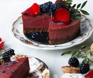 berries, cake, and cakes image