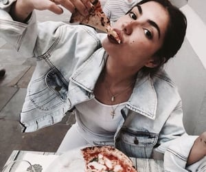 pizza and street style image