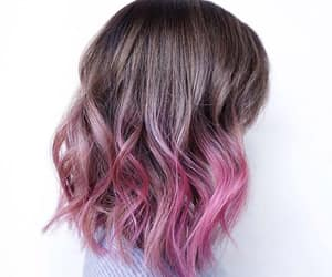 inspiration, pink hair, and pink ombré hair image